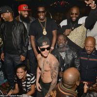 UNREPETANT SINNER! JUSTIN BIEBER PARTIES SHIRTLESS IN ATLANTA CLUB WITH RICK,T.I, DIDDY AND 'BAD GIRL' CHANTEL JEFFRIES