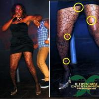 DISGRACE! NIGERIAN SINGER YEMI ALADE BUSTED WEARING TORN PANTY HOSE ON STAGE!